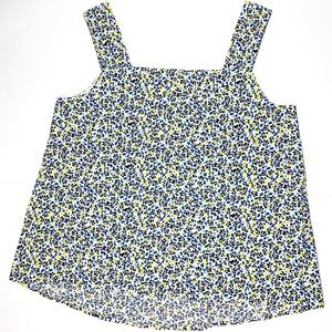 Gap Blue & Yellow Patterned Tank Top Size S